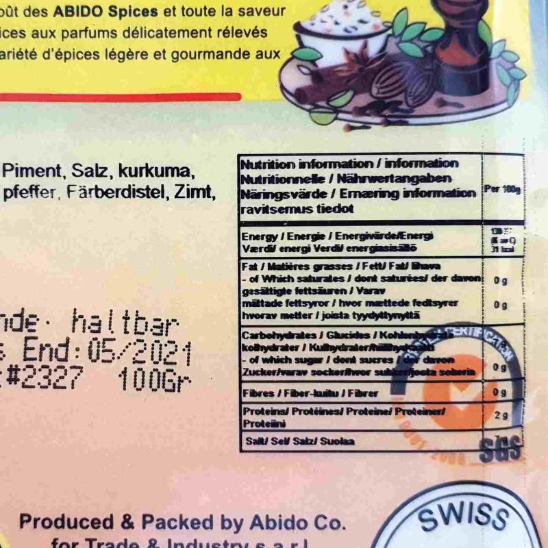 SHAN Gewürzmischung für Tikka Seekh Kabab Mix 100g je Pckg